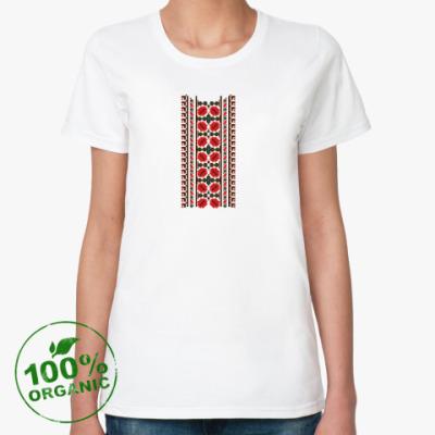 Женская футболка из органик-хлопка Вышиванка Украина