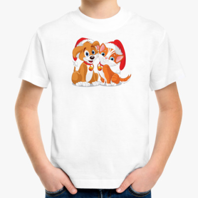 Детская футболка Собачка и кошка