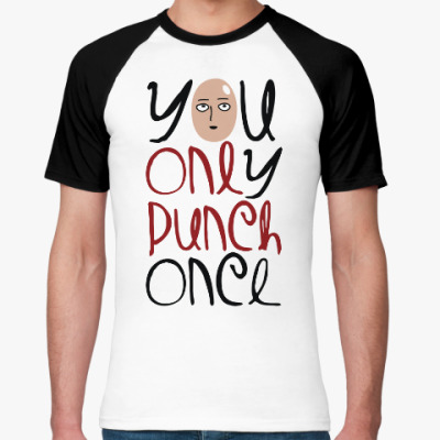 Футболка реглан Ванпанчмен One Punch Man