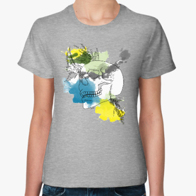 Женская футболка Сентябрьский череп
