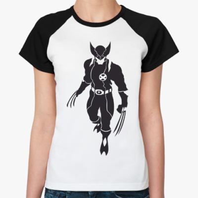 Женская футболка реглан Wolverine