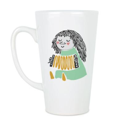 Чашка Латте  'Мюкла- музыкант'