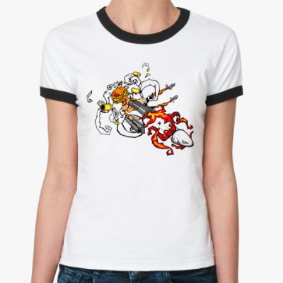 Женская футболка Ringer-T Hall Bullet   Ж()