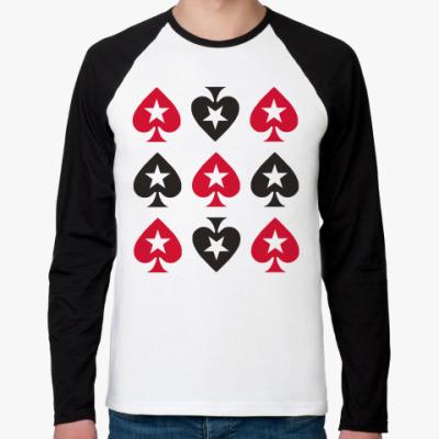 Футболка реглан с длинным рукавом   Покер старс