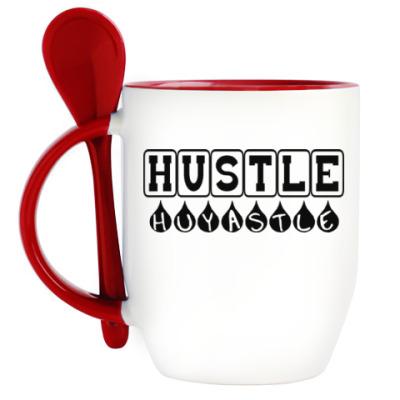 Кружка с ложкой Hustle