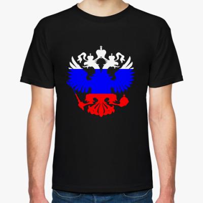 Футболка флаг и герб России