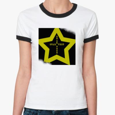 Женская футболка Ringer-T  Star Vest