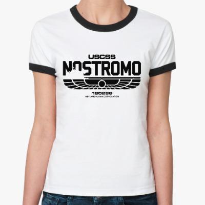 Женская футболка Ringer-T Чужой. Nostromo