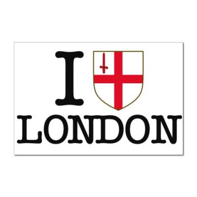 Наклейка (стикер) Я люблю Лондон