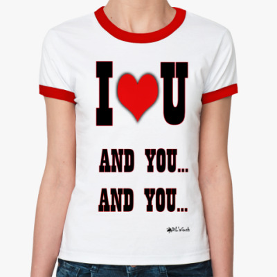 Женская футболка Ringer-T Энд Ю