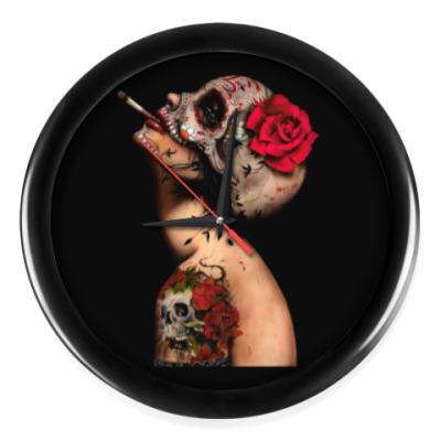 Настенные часы Sugar skull girl
