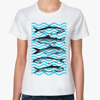 Классическая футболка Рыба в воде