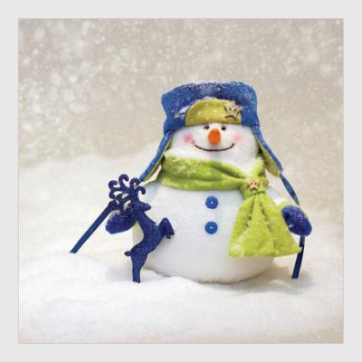 Постер Добрый и пушистый снеговик