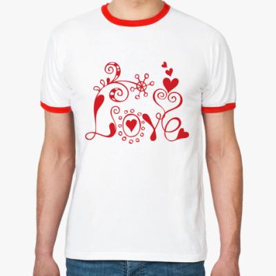Футболка Ringer-T Love and flowers