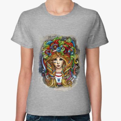 Женская футболка Украинка