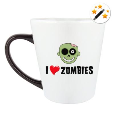 Кружка-хамелеон I love zombies