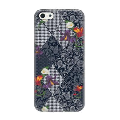 Чехол для iPhone 5/5s Гусиная лапка и цветы