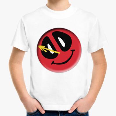 Детская футболка Deadpool значок Комедианта