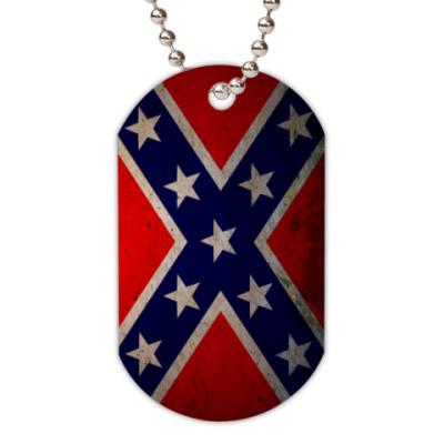 Жетон dog-tag  Флаг Конфедерации