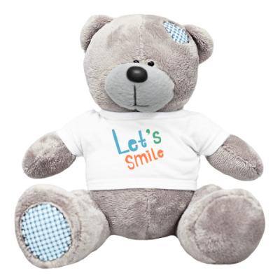 Плюшевый мишка Тедди Let's smile