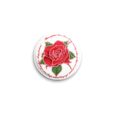 Значок 25мм Rose
