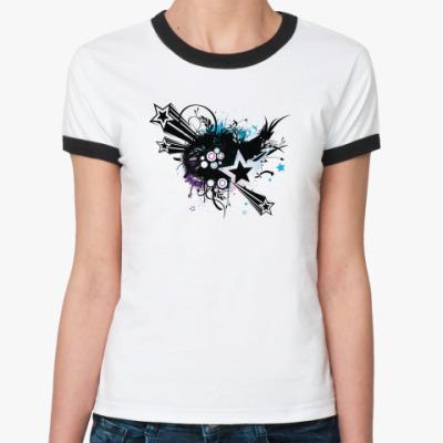 Женская футболка Ringer-T Звёзды