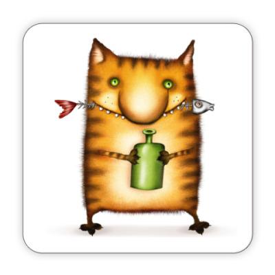 Костер (подставка под кружку) Подставка под кружку Кот