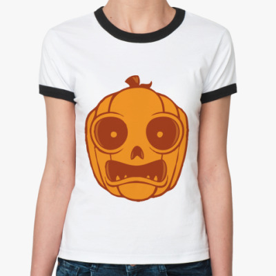 Женская футболка Ringer-T   Тыква