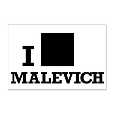 Наклейка (стикер)  12x8 Malevich