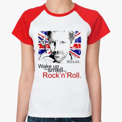 Женская футболка реглан Хаус Рок