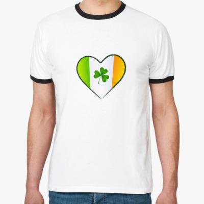 Футболка Ringer-T Люблю Ирландию