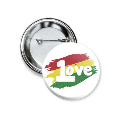 Значок 37мм 1 Love