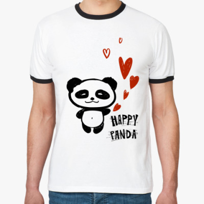 Футболка Ringer-T   Happy Panda