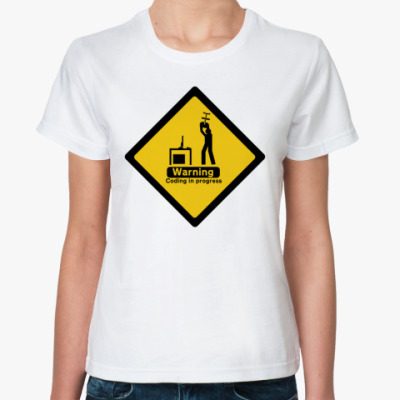 Классическая футболка Coding in progress