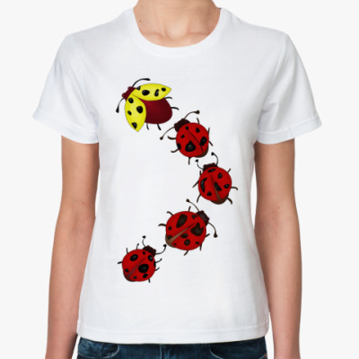 Классическая футболка Божьи коровки