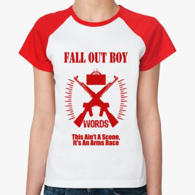 Женская футболка реглан FOB words  Ж(б/к)