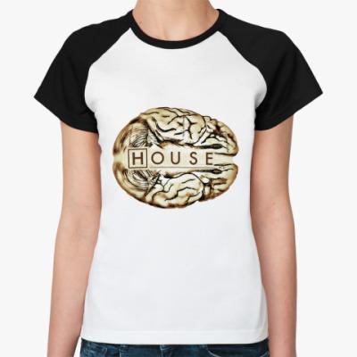 Женская футболка реглан House brain  Ж ()
