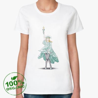 Женская футболка из органик-хлопка  Свобода