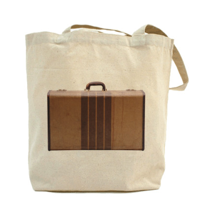 Холщовая сумка чемодан