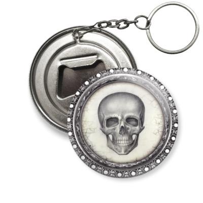 Брелок-открывашка череп