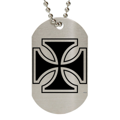 Жетон dog-tag  (металлик) iron cross