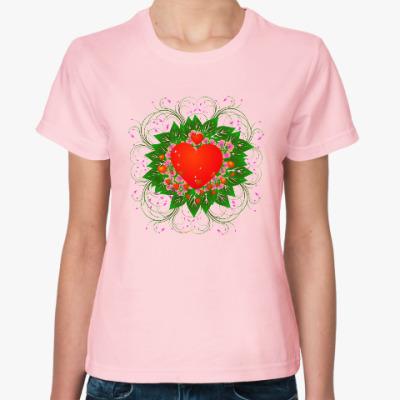 Женская футболка Heart Flower