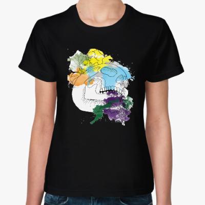 Женская футболка Октябрьский череп