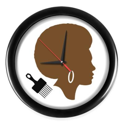 Настенные часы Afro Lady