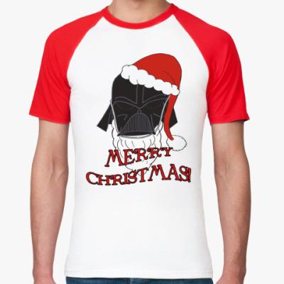 Футболка реглан Christmas Vader