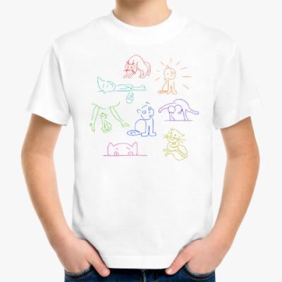 Детская футболка Приключения кота