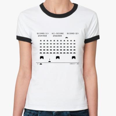 Женская футболка Ringer-T Invaders  Ж()