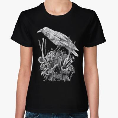 Женская футболка Белая Ворона