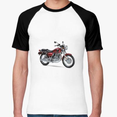 Футболка реглан мотоцикл
