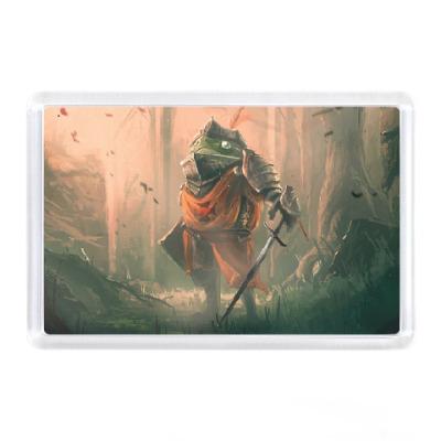 Магнит Благородный рыцарь Лягушка